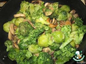 Рецепт Овощи с грибами в пароварке