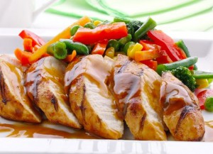 Рецепт Куриные грудки в горчичном соусе в пароварке