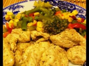 Рецепт Куриные грудки с карри в пароварке