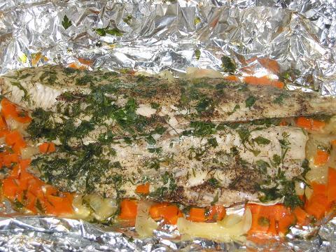 Рецепт Треска с овощами в пароварке